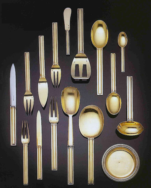 photo of 1928 Jean Puiforcat gold dinnerware
