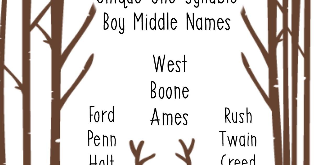 ren s baby name blog unique one syllable middle names boys