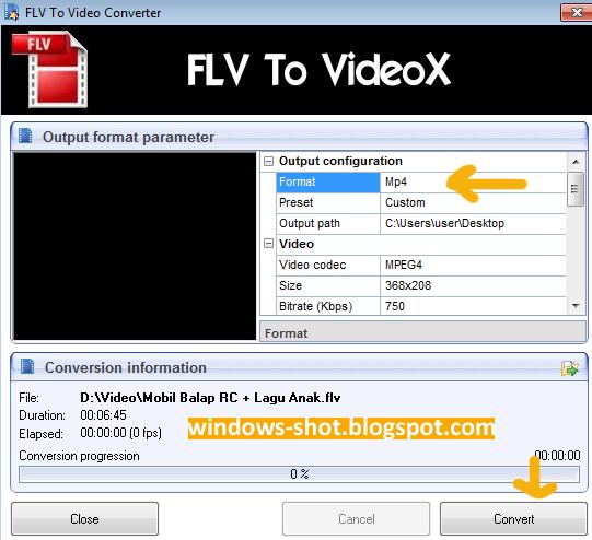 Cara Mengubah FLV ke MP4