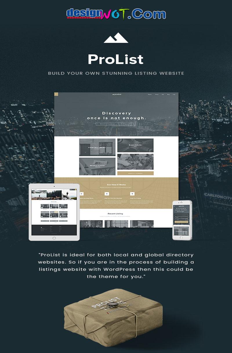 ProList - Elegant Listing & Directory WordPress Theme