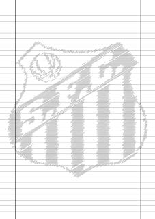 Papel Pautado do Santos rabiscado PDF para imprimir na folha A4