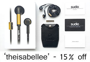 15% Discount Code for Sudio Earphones