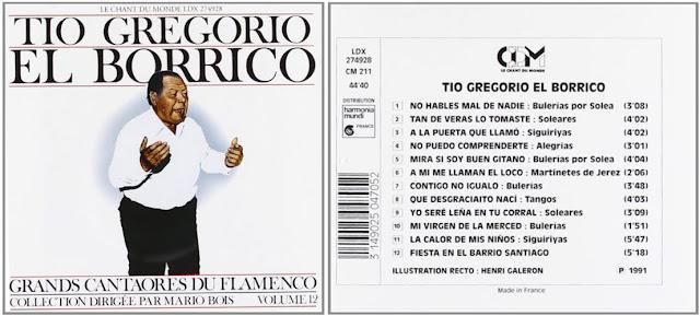Tío Borrico de Jerez, GRANDS CANTAORES DU FLAMENCO 12 - LE CHANT DU MONDE 1991