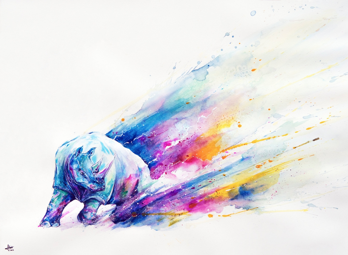 10-Rhino-Marc-Allante-Wild-Animal-Paintings-with-a-Splash-of-Color-www-designstack-co