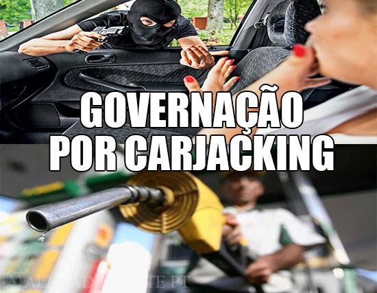Imagens de Carjacking e de gasolina – Governação por Carjacking