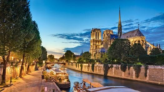 Vista de Paris em abril