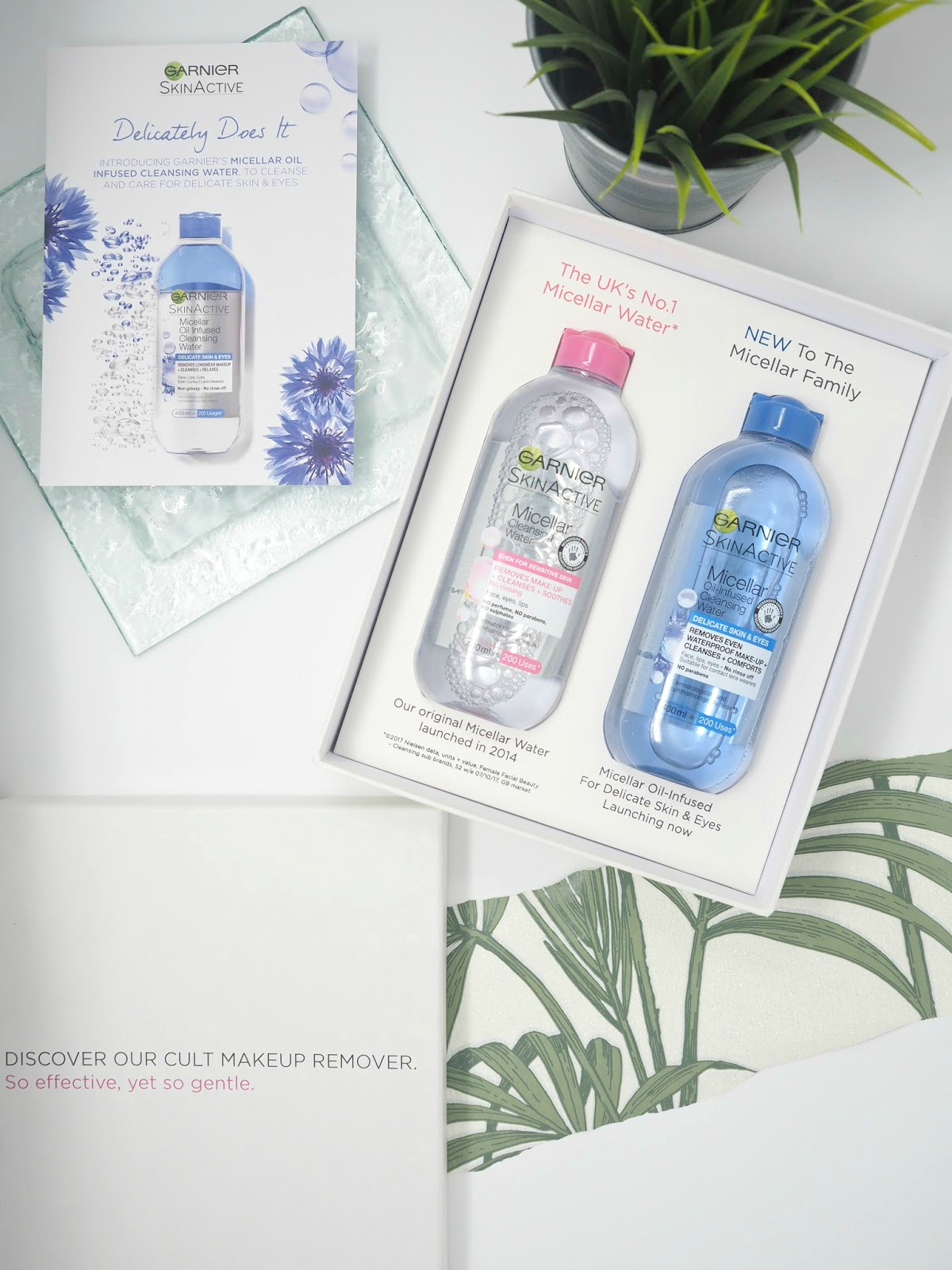 Garnier Micellar Water Delicate Flatlay blog review