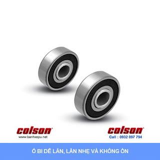 Bánh xe cao su trục tròn Colson có khóa phi 5 inch | 2-5651-448BRK4 banhxedaycolson.com