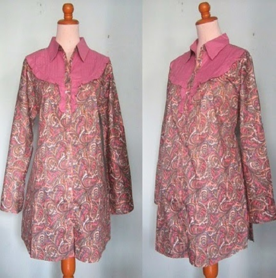 Model Baju Batik Kerja Untuk Wanita Gemuk Galeri Batik Terbaru