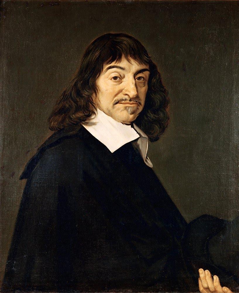 フランハルのルネ・デカルトの肖像の複製