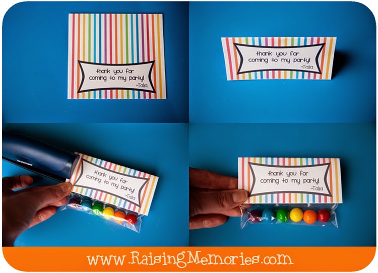 Rainbow Polka Dot Party Favor
