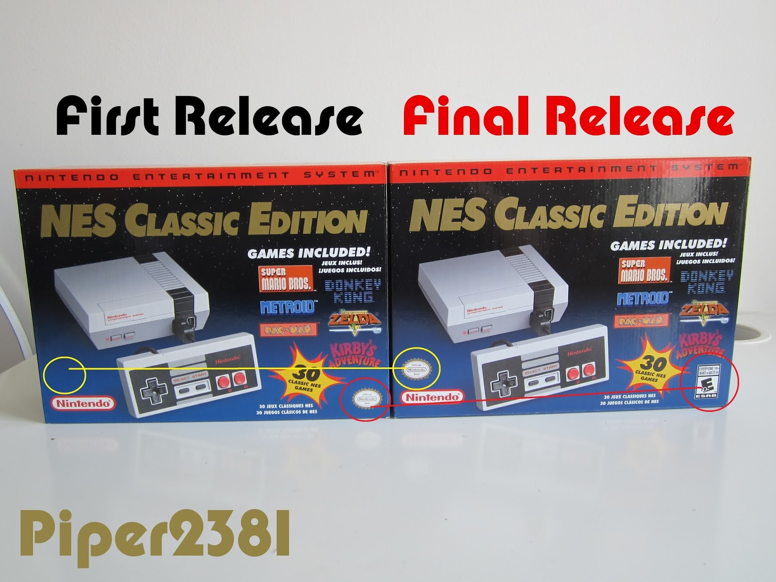 Piper2381 Nes Classic Edition Box Variation