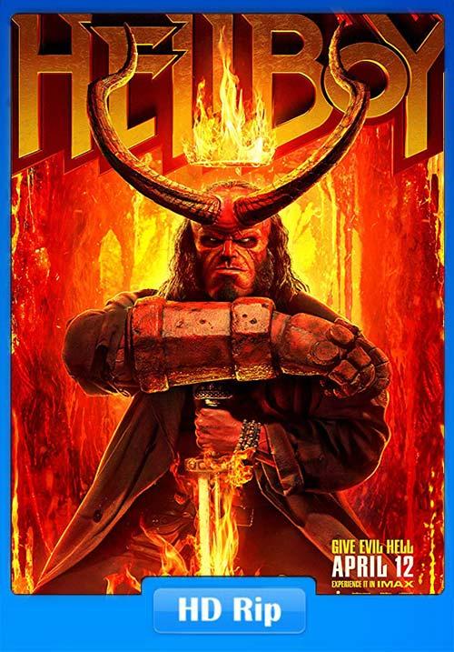 Hellboy 2019 720p HC HDRip Hindi Tamil Telugu Eng x264 | 480p 300MB | 100MB HEVC Poster