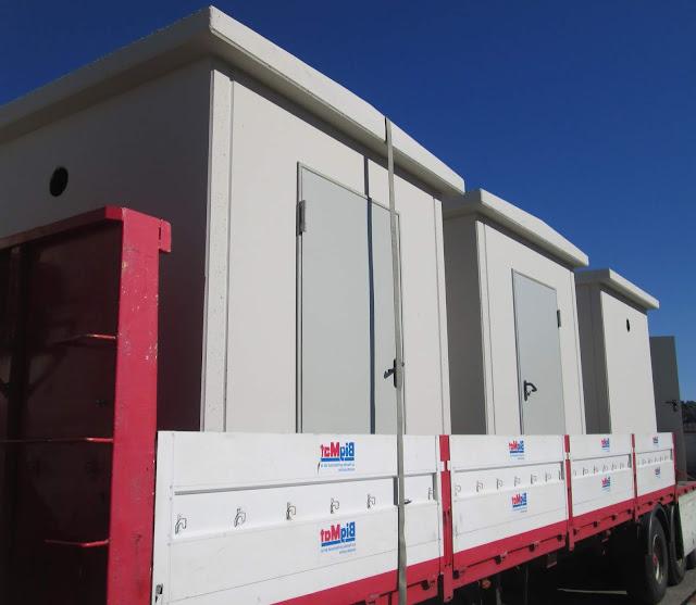 foto del transporte para venta casetas de hormigón