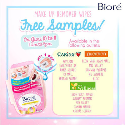 Free Biore Make Up Remover Wipes