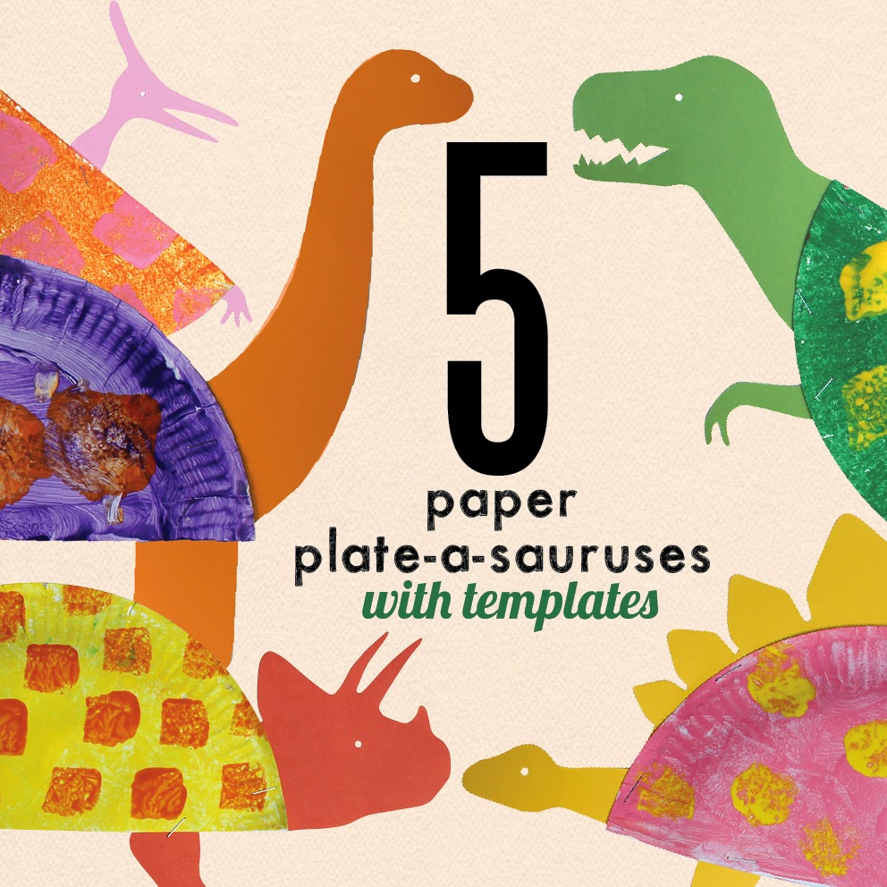 Learn with Play at Home: Paper Plate Dinosaur Craft for