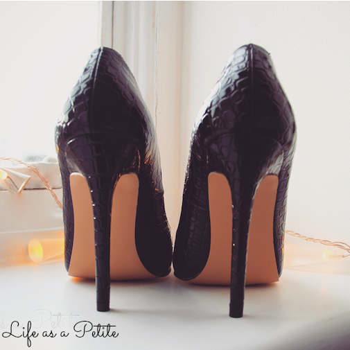 Pointed Black Heels