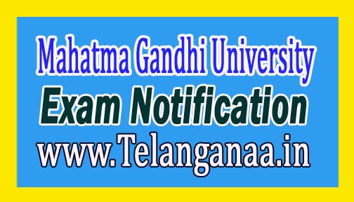 MGU MBA & MCA III Sem Exam Fee Notification 2016