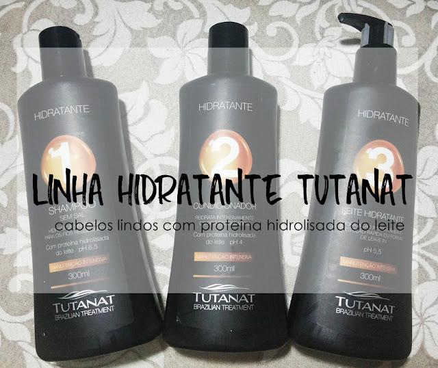 Cabelos hidratados linha Hidratante da Tutanat