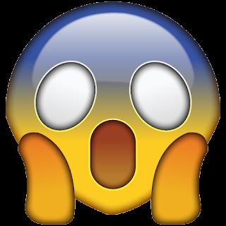 An astonished emoji
