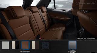 Nội thất Mercedes GLE 400 4MATIC Coupe 2018 màu Nâu Saddle 224
