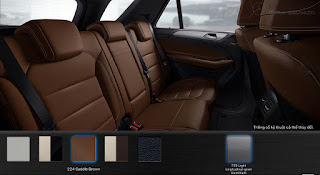Nội thất Mercedes GLE 400 4MATIC Coupe 2019 màu Nâu Saddle 224