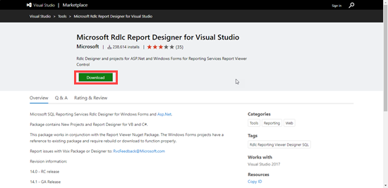Enable RDLC Report in Visual Studio 2017 ~ IT Tutorials with Example