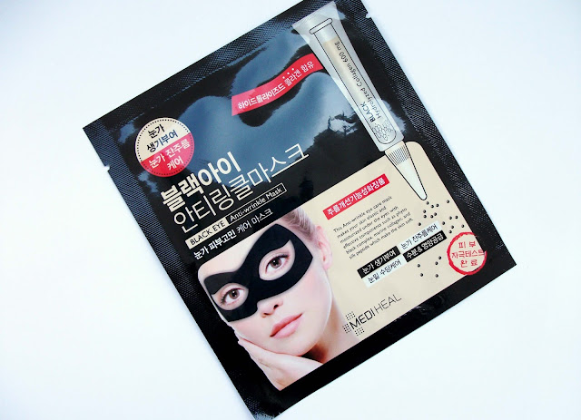 Mediheal - Black Eye Anti-wrinkle Mask. Korean sheet mask with marine collagen. Review by Valentina Chirico