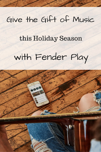 Give the gift of music this holiday season with Fender Play! #sponsored #FenderPlay #guitar #music