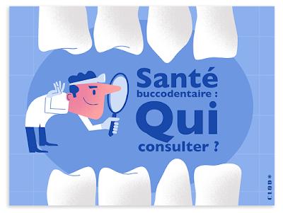 Clod illustration santé buccodentaire pour Priorité Santé Mutualiste de la Mutualité Française