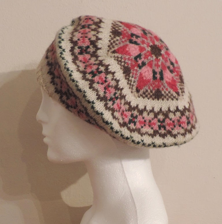 Pamela brought along two Fair Isle tams that she knitted many years ago 45b6977fc4b