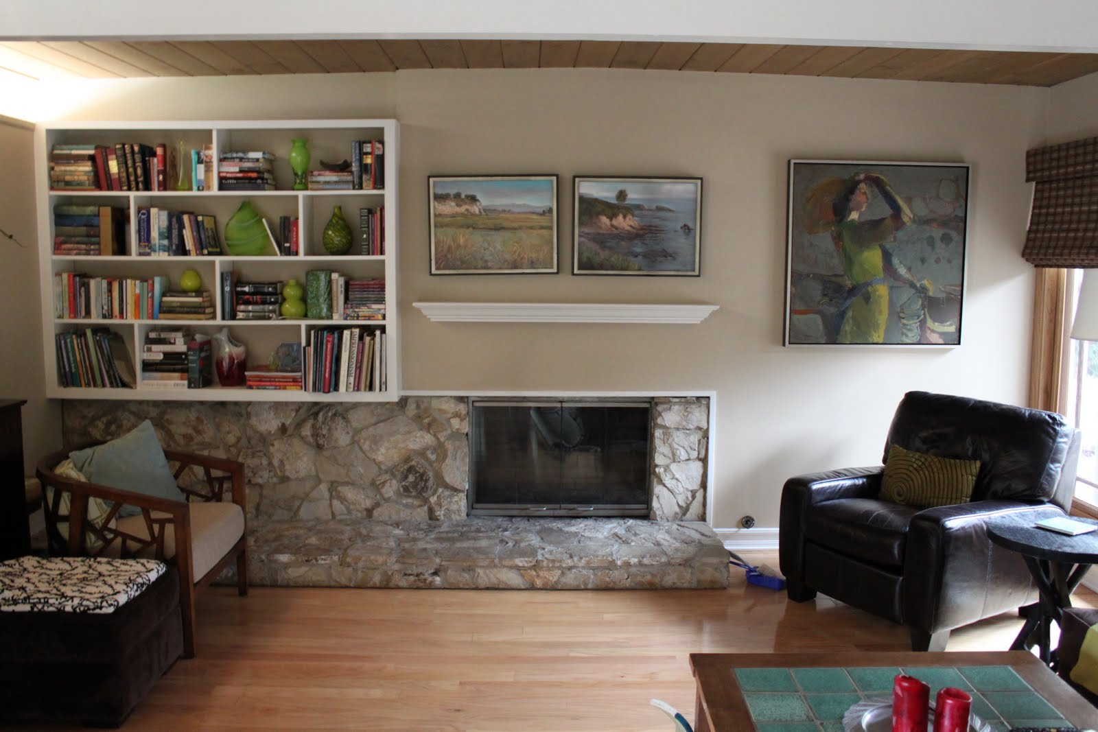 should a mid-century modern fireplace have a mantle?   mid ...