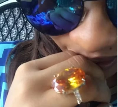 tonto dikeh wedding ring