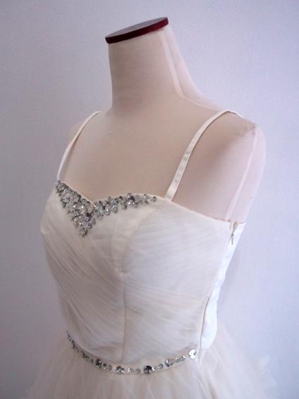 Gaun Pesta Pendek Putih Tile