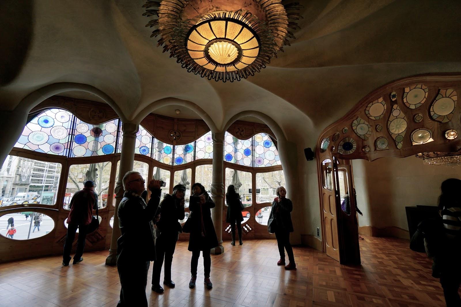 カサ・バトリョ(Casa Batlló) 2階 メインの居間
