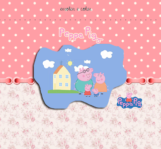 Peppa Pig and Family, Free Printable Labels.