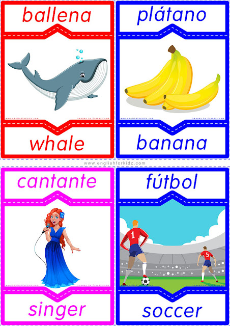 English Spanish flashcards