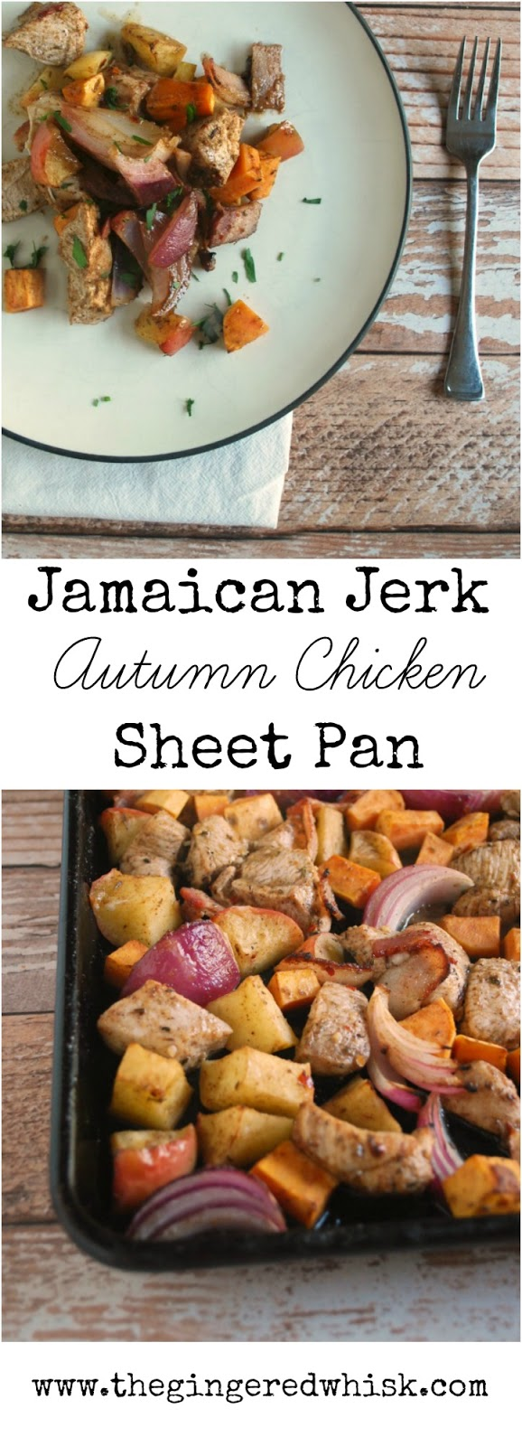 Autumn Jamaican Jerk Seasoned Chicken Bake