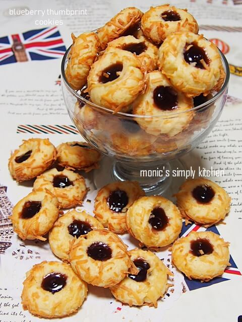 resep b;ueberry thumbprint cookies