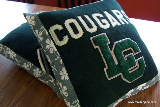 Memory Pillows from High School Varsity Jacket