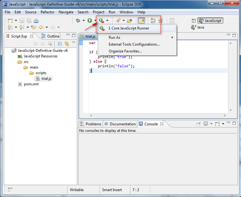Tricks for Better Software: Running Core JavaScript in Eclipse