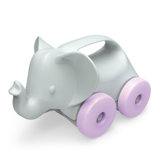 rolling elephant green toy
