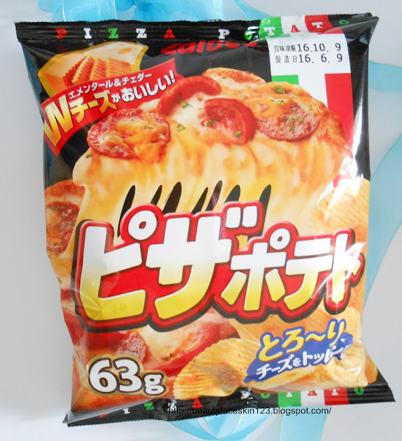 JAPAN FUNBOX JULY 2016-MONTHLY JAPAN SUBSCRIPTION BOX- Calbee Pizza potato chips