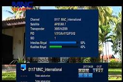 Cara tracking satelit Apstar 7 Cband - 76.5E