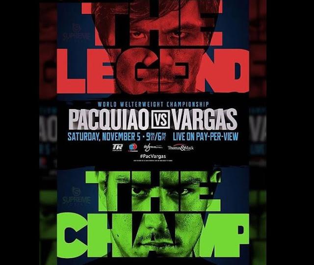 Manny Pacquiao Vs Jessie Vargas Live Boxing Stream