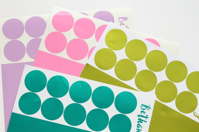 Vinyl Polka Dots | pitterandglink.com