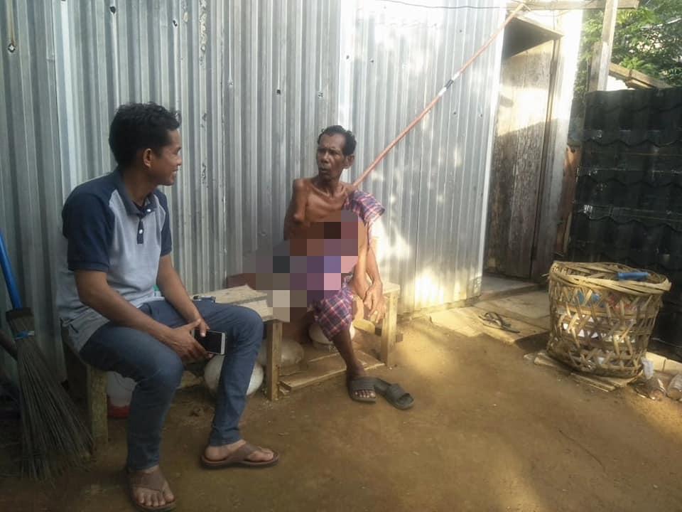 LPD Kunjungi dan Santuni Tgk.Manan yang mengalami musibah tersengat Listrik.Lhokseumawe
