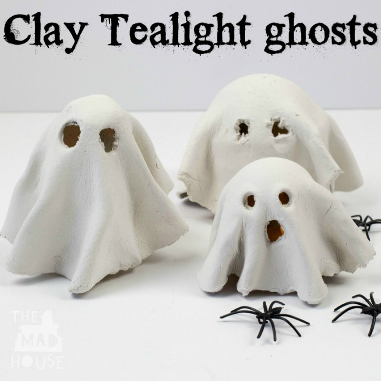 tealight ghosts by mum in the madhouse  - Ghost crafts for kids