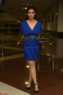 Mannara Chopra in Short Blue Dress at Rogue Movie Teaser Launch 1st March 2017 062.JPG