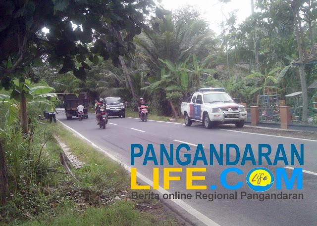 kecelakaan di jalan desa margacinta